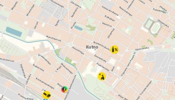 mapa zagrożeń w Kutnie